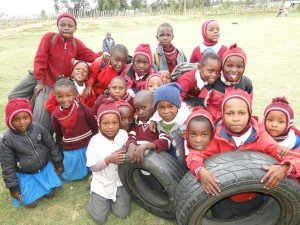 Some happy Kids at St Barnabas Mission