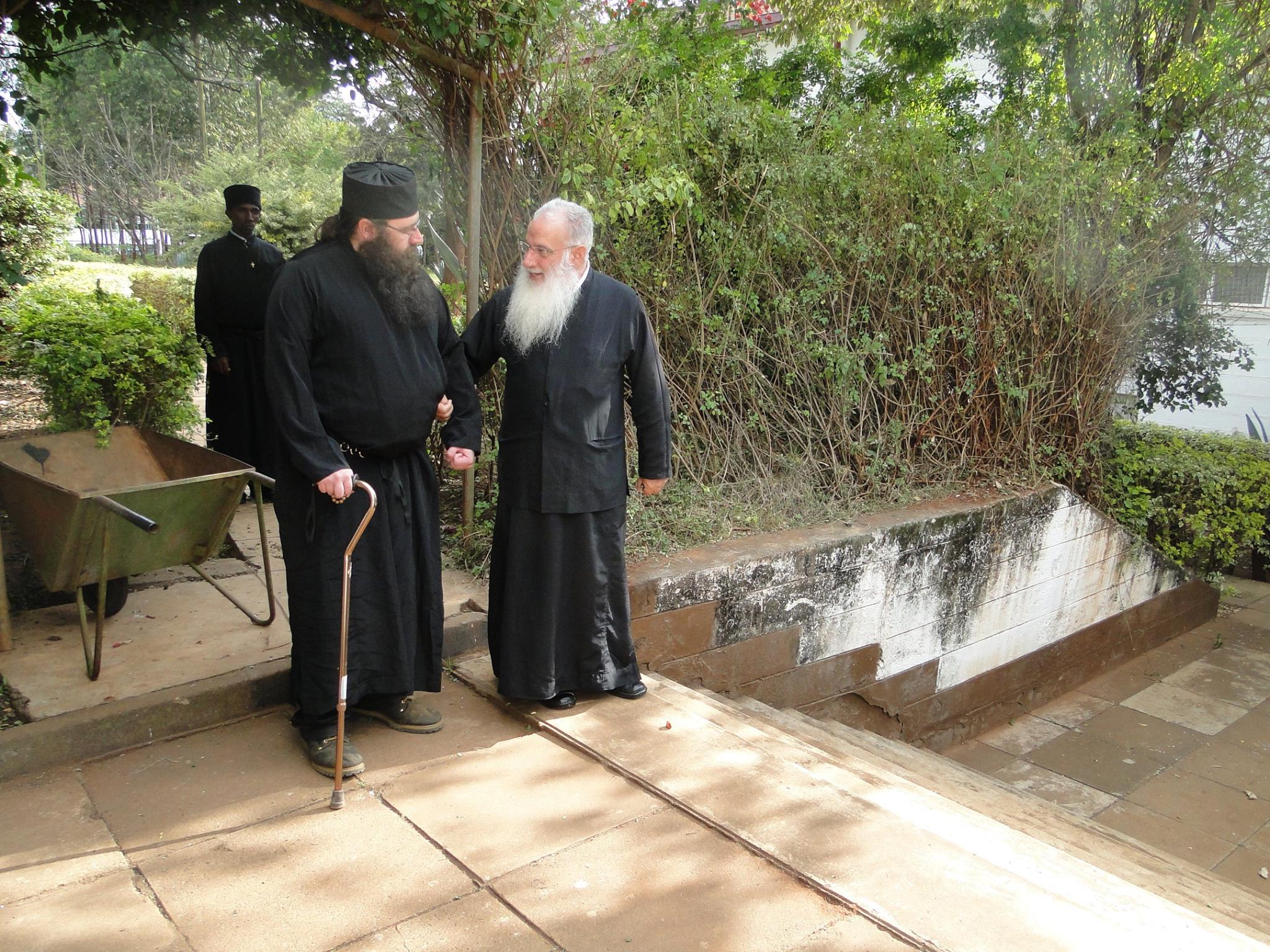 Father Silouan met with His Eminence Archbishop Makarios of Kenya