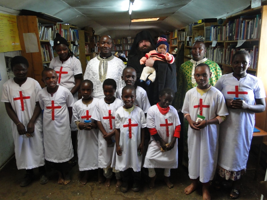 newly baptised Orthodox children in Africa