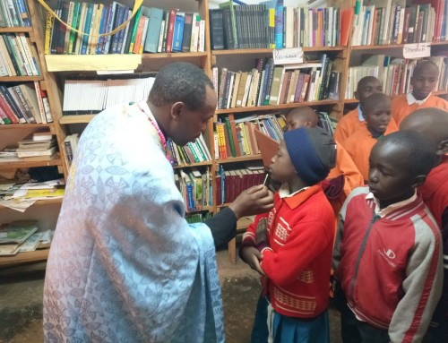 The mystery of holy unction Celebrated in the orthodox church Orphanage in Kenya