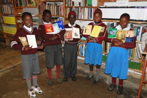 Orthodox Mission education centre, children who received the books happily on behalf of the orthodox community Library