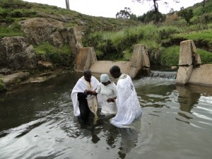 Baptism at St. Barnabas Orthodox Mission Kenya