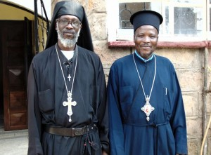 Bishop Athanasios Akunda and Fr John- Orthodox Mission Kenya