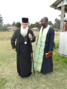 Archbishop Makarios with Fr Methodius at St Barnabas Orphanage