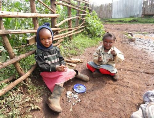 …..noticed three young children picking through scraps