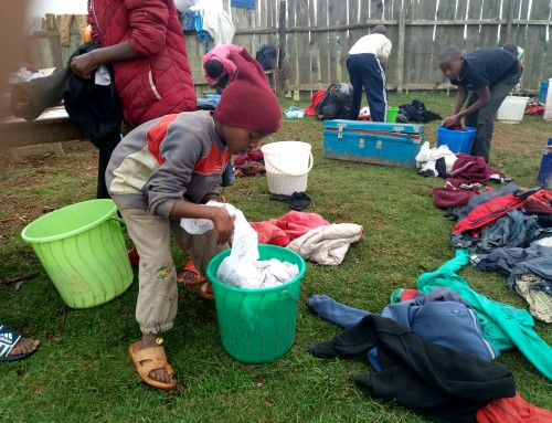 Laundry day  at Saint Barnabas Orphanage